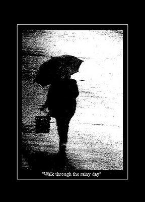 Walk through the rainy day