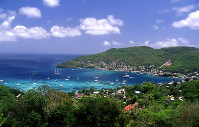 Boats in Bay at Bequia
