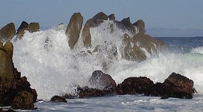 Waves on dinosaur rock