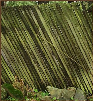Slanting fence