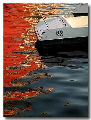 Electric Boats, Red Reflection