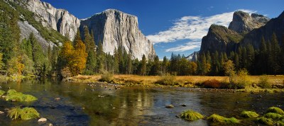Yosemite Fall -  A Panoramic View