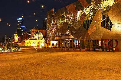 Dawn at Fed Square