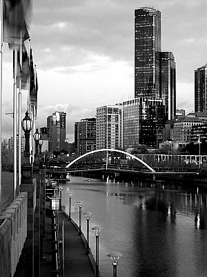 Melbourne Morning in Black and White