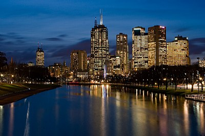 Melbourne over the Yarra