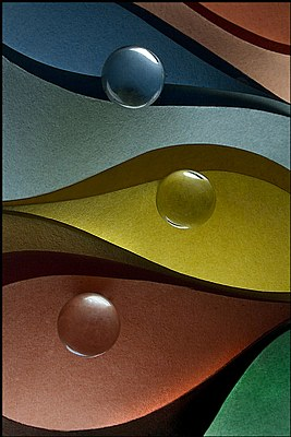Construction Paper and Marbles