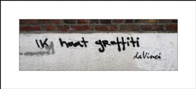 I hate graffiti...
