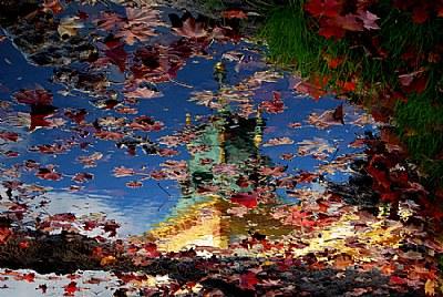 Autumn colours reflection