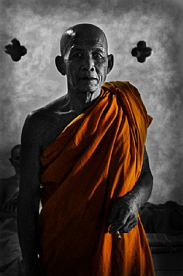 another smoking monk