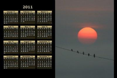 2011 Calendar / Sunset