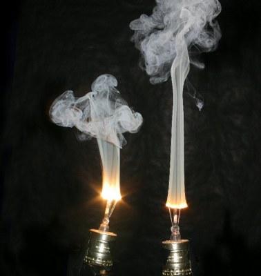 Burning Lamp Smoke Pattern