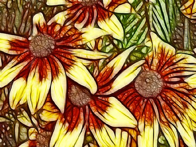 Rust & Yellow Daisies