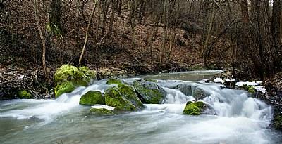 flowing mountain streams