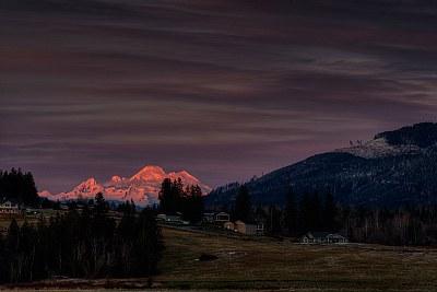 Last light on Mt Baker