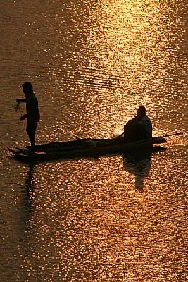 fishermen, at tel river.