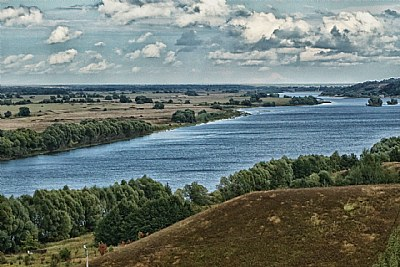 Oka river. Russia.
