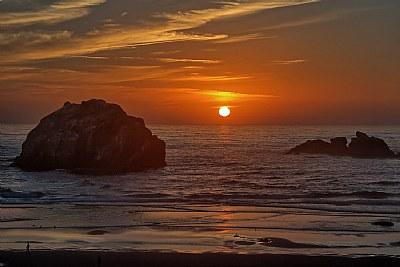Face Rock Sunset