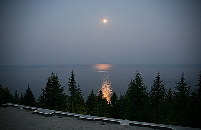 Lake Ochrid Under Moon