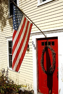 Flag & Red Door