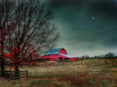 Red Barn at Dusk