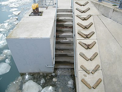 High water and duck stairs