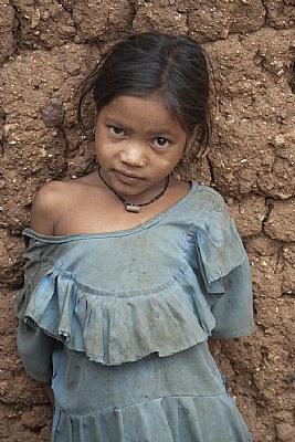 village girl, at themal rampur