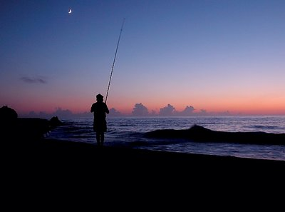 Moonlight fishing
