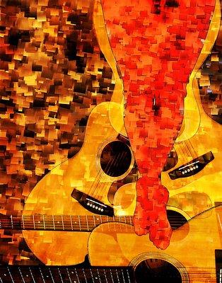 """Nude Descending a Guitar Case"""