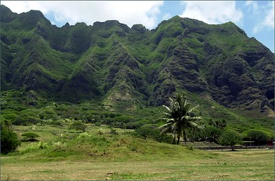 Mountain, Oaho, Hawaii.